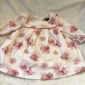Baby Gap little red riding hood print  dress 3-6M